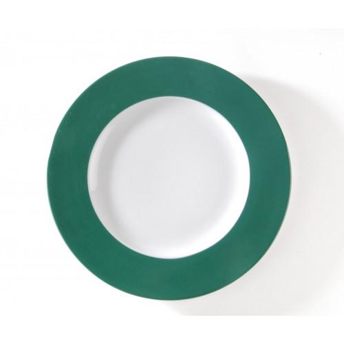 Assiette présentation verte