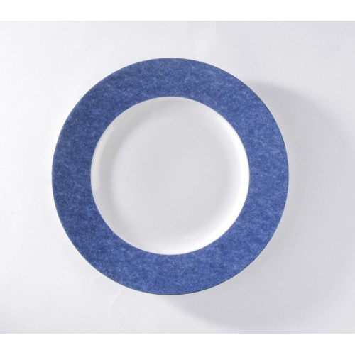 Assiette présentation bleue