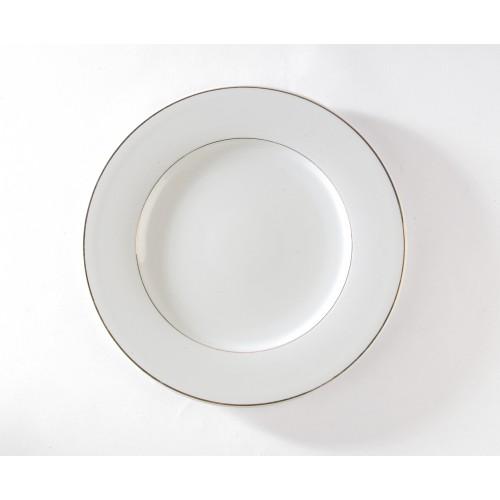 Assiette présentation filet or