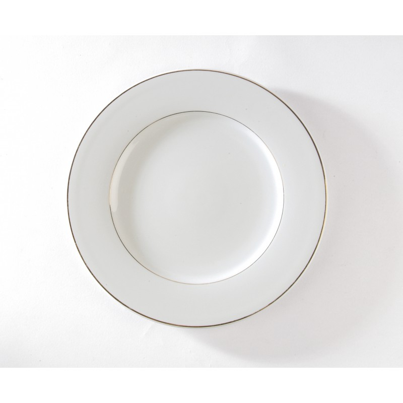 Assiette de présentation filet or