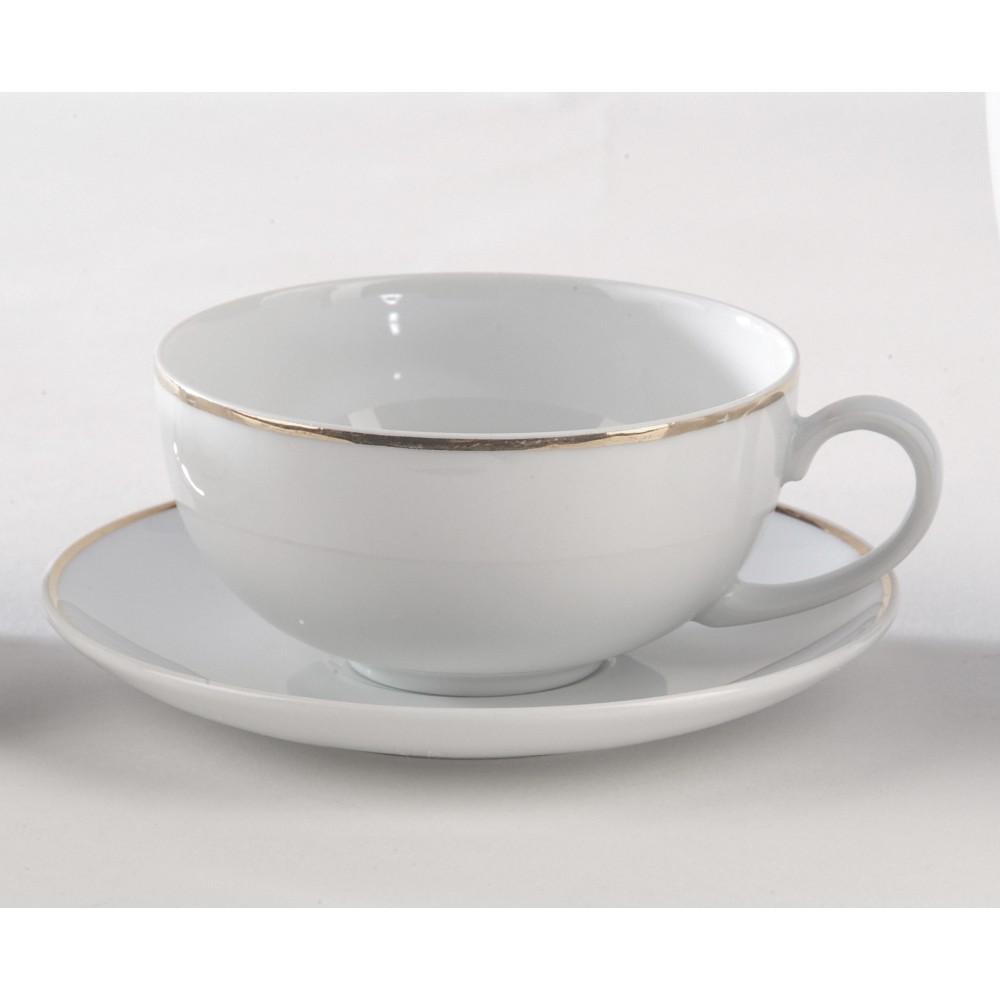 Location De Tasses Et Sous Tasses Th Porcelaine Blanche Filet Or