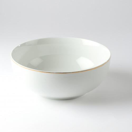 Saladier porcelaine filet or