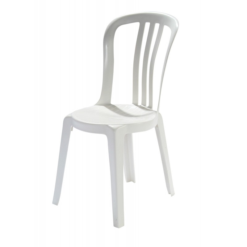 Chaise blanche simple chaise blanche with chaise blanche for Chaise cuisine blanche