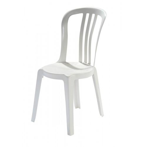 Chaise blanche en résine