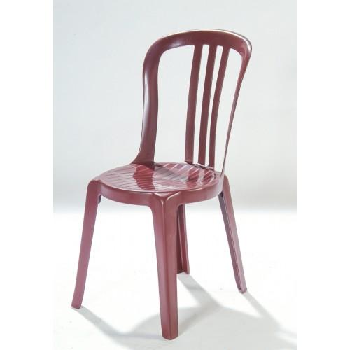 Chaise bordeaux en résine