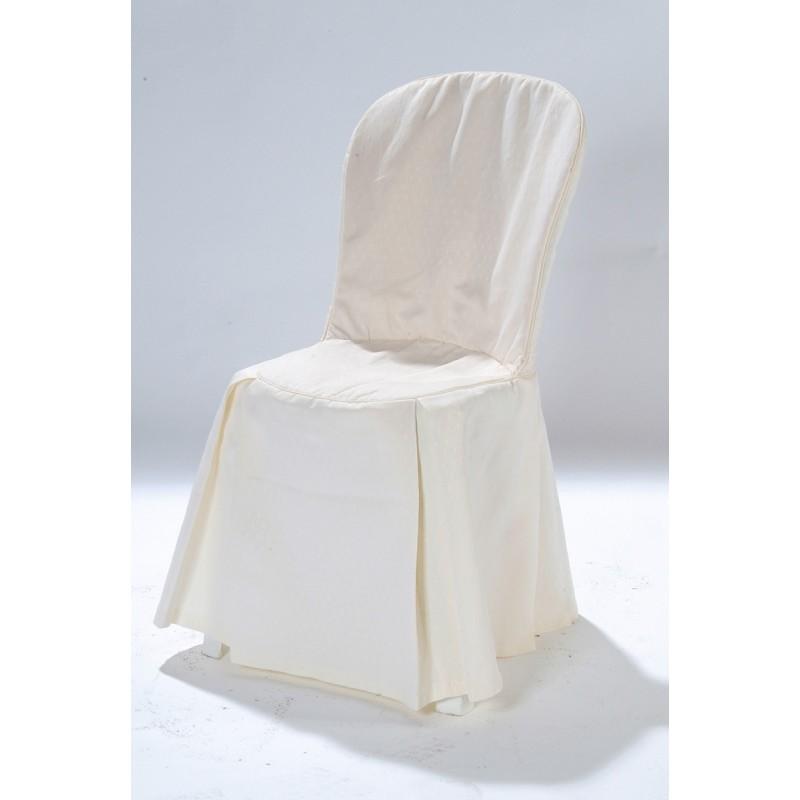 Housse tissu matelass e pour chaise r sine - Chaise resine blanche ...