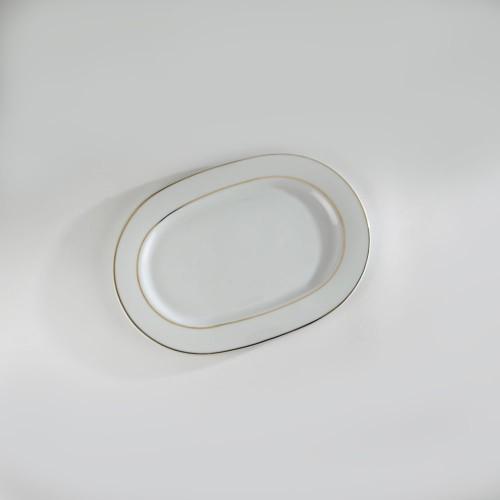 Plat ovale Filet or