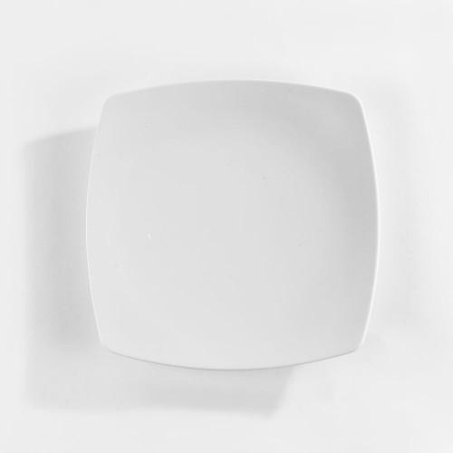 Assiettes carrées blanche