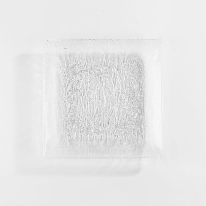 Assiettes carrées en verre