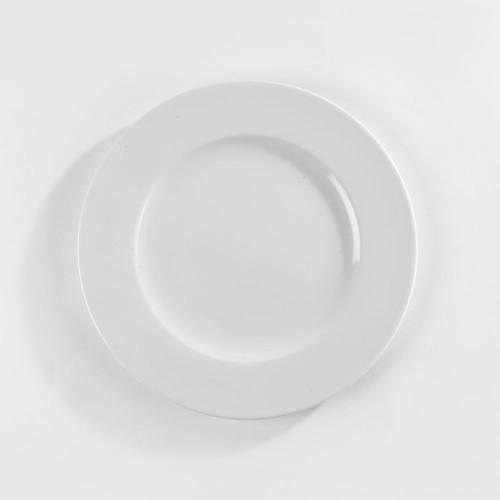 Assiette plate porcelaine blanche