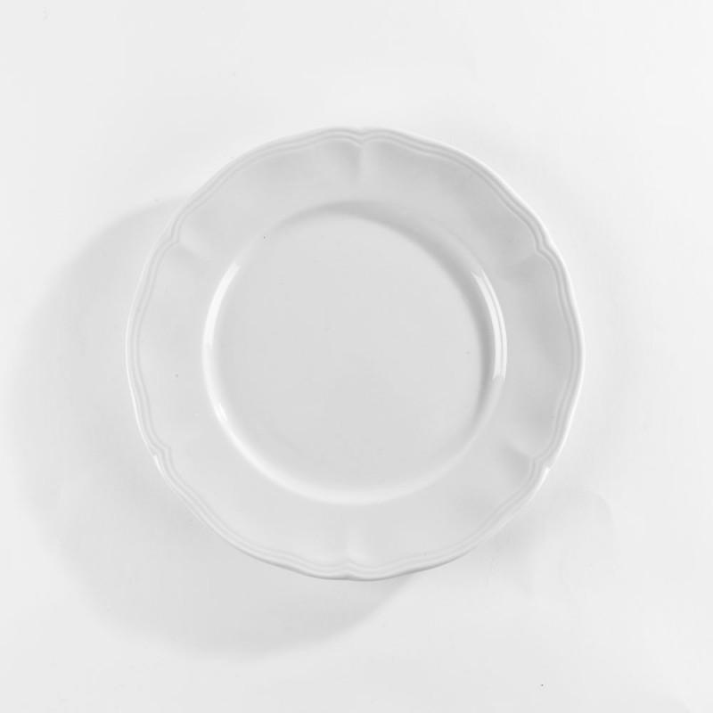 assiette plate porcelaine blanche louis xv. Black Bedroom Furniture Sets. Home Design Ideas