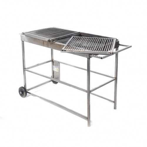 Chariot barbecue inox 1,20 x 0,60 m